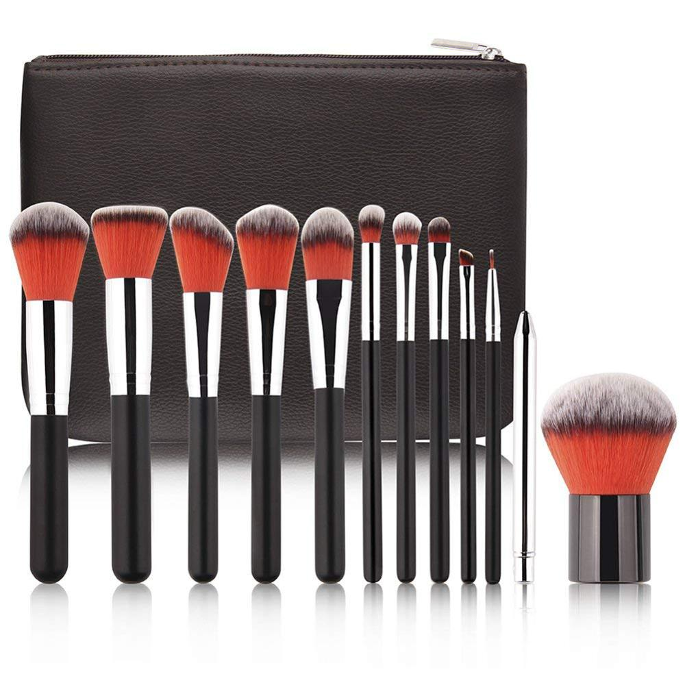 Uw Eigen Merk 12 stks Professionele Make-Up Borstel Set met Case