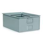 rectangular stackable metal turnover trunk box for storage