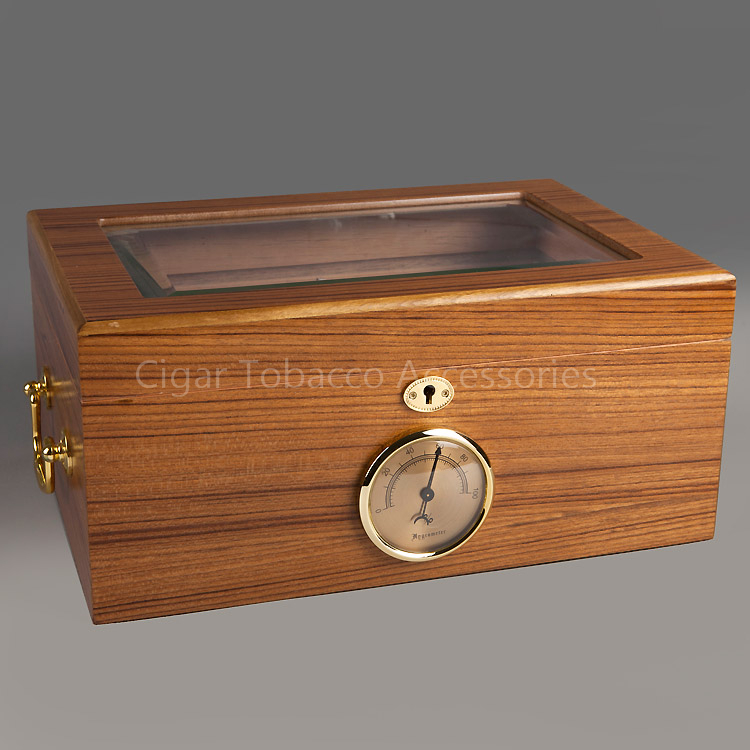 Furniture Stunning Display Of Wood Grain In A: Stunning Wood Grain Glass Display Cedar Wood Cigar Humidor