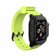 Водонепроницаемый чехол для Apple Watch band 4, ремешок iwatch 42 мм, силиконовый ремешок 44 мм 40 мм, браслет, Смарт-часы, аксессуары, петля(Китай)