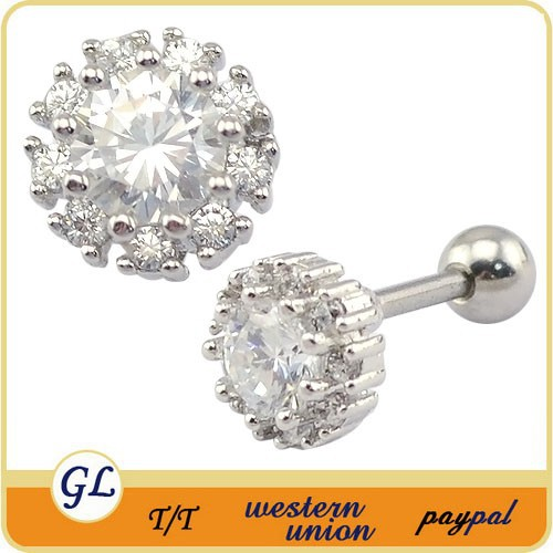 Studex Stainless Steel Piercing Earrings Ear Stud Cubic zircon ear women earings accessories