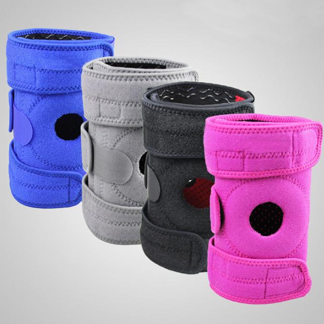 Hot sale adjustable medical crossfit fabric sport hinged knee brace with CE FDA, Black/blue/pink/gray