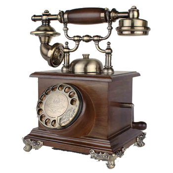 Wholesale Sim Card Wood Antique Old Fashion Telephones