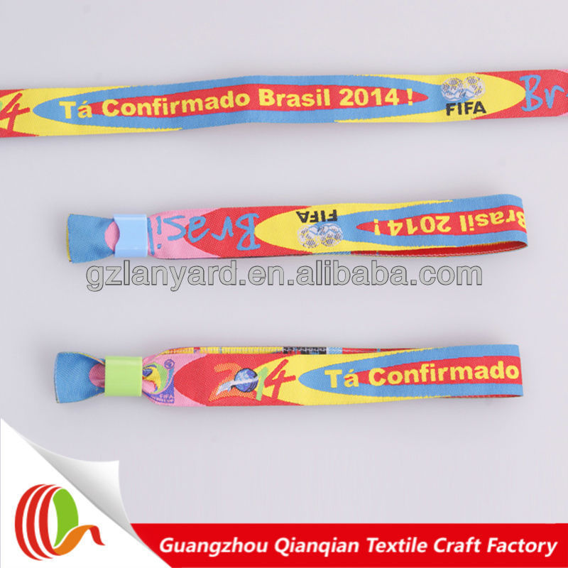 Best promotional gifts event fabric wristband free sample