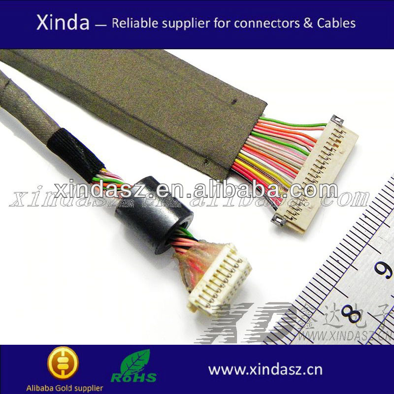 lcd cable card ready tv laptop lcd lcd cable card ready tv laptop lcd cable pinout buy lcd cable eci wire harness at n-0.co