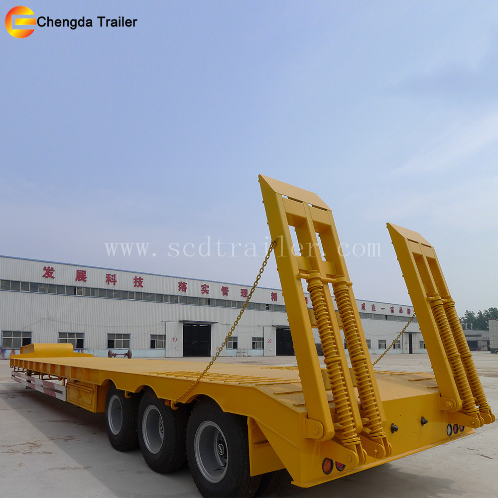 10 m working plate size semi truck gooseneck trailer chassie 3 axle low bed semi trailer