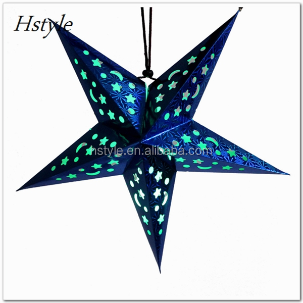 HOT 3D Hanging Laser Paper Lantern Lampshade Birthday/Party/Wedding/Christmas/ Decoration Star Elegant SD108