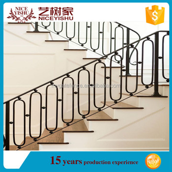 China Cheap Modern Simple Iron Grill For Stairs/interior Wrought Iron Stair  Railings/stair