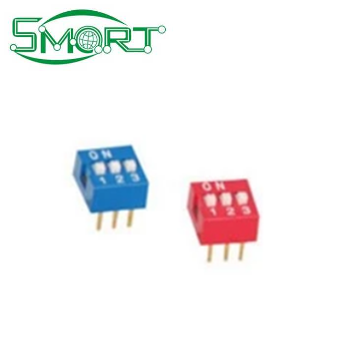 Smart Electronics 100PCS/Lot 3 Position DIP Switch Side Style 3P 2.54mm Pitch Through <strong>Hole</strong> electronic micro switch