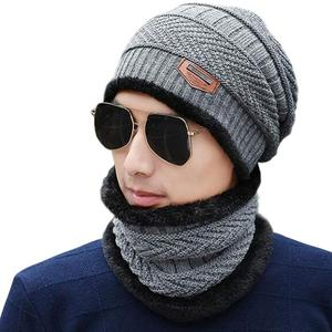 Wholesale cheap high quality Winter beanie Mens Hooded neck warmer