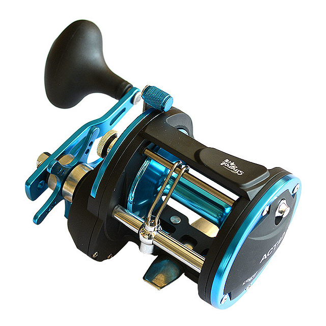 Trolling Saltwater 3+1BB Jigging Boat Fishing Reel Alloy Strong Reels for Fishing, Black