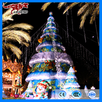 Outdoor giant christmas tree attractive christmas decoration