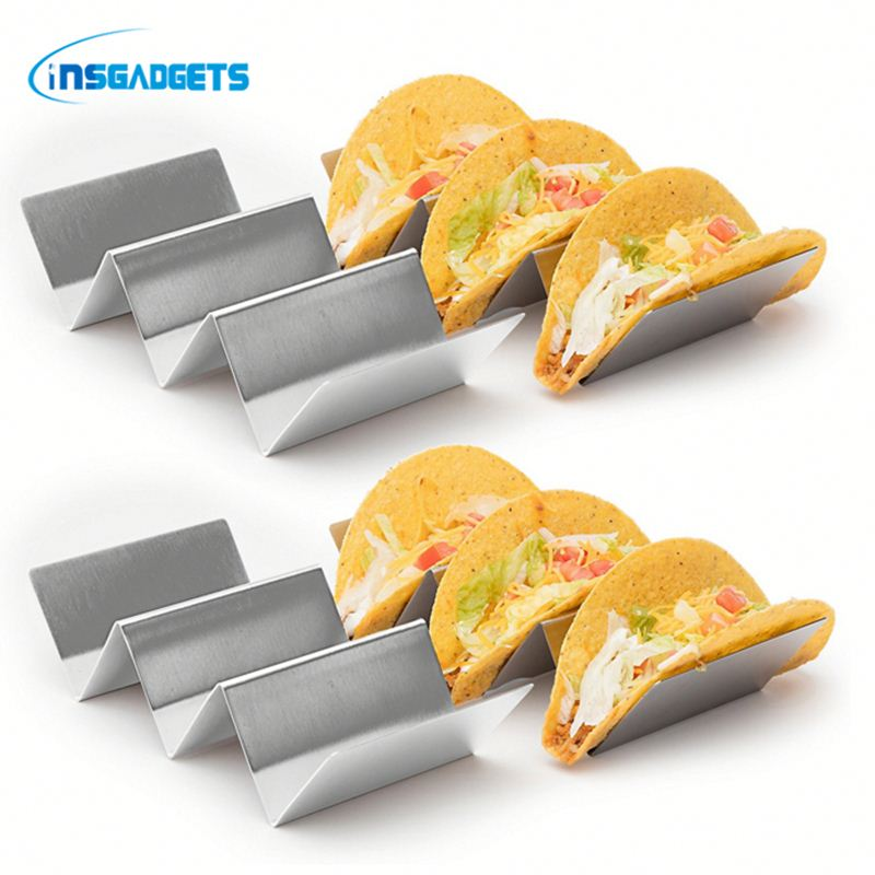 Stainless steel taco holder stand ,HO5e metal taco holder