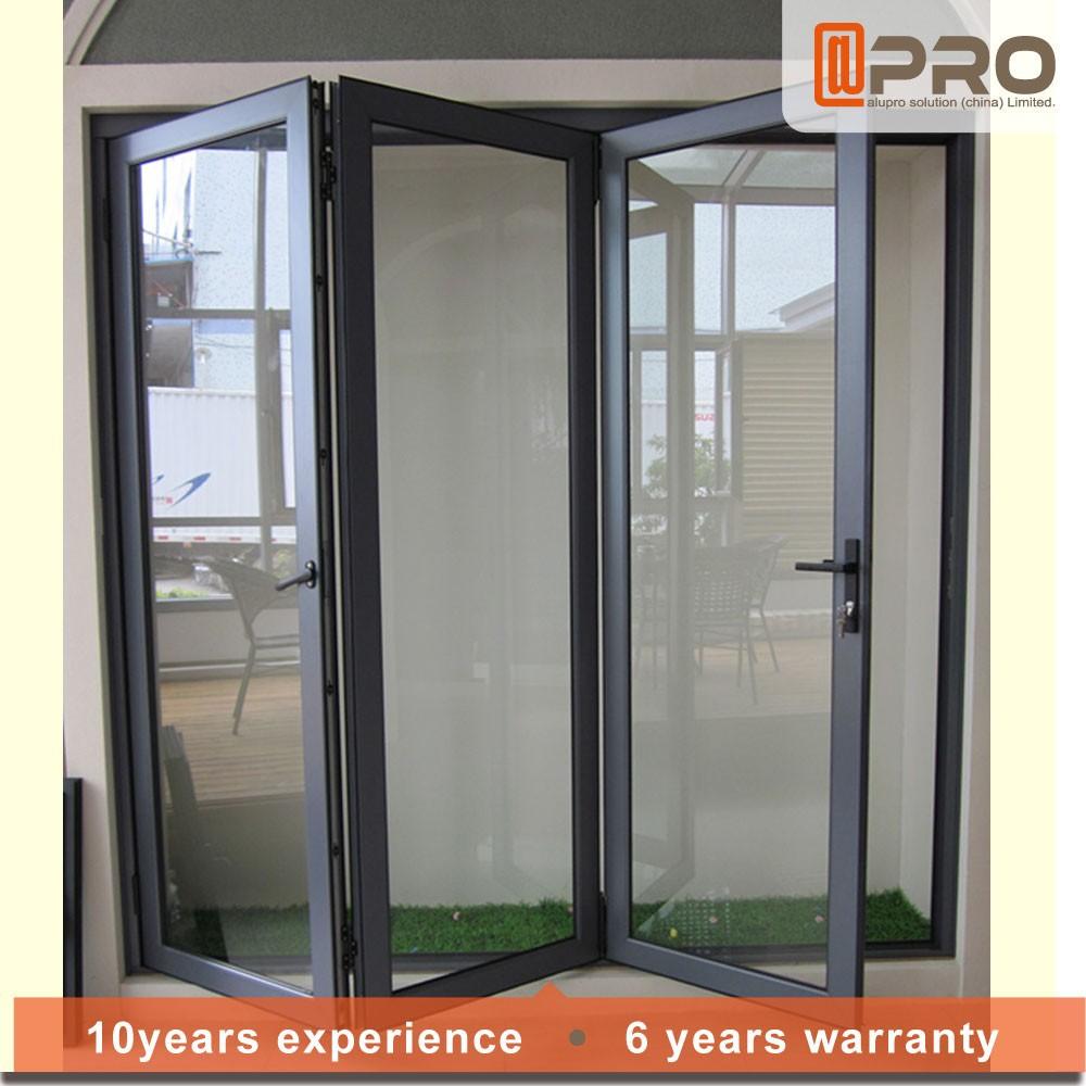 La moda moderna puerta de entrada de vidrio acorde n - Puertas plegables de aluminio ...