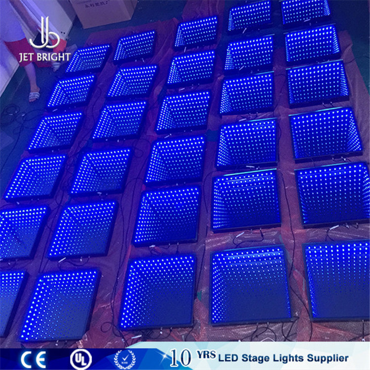 New Light Weight Portable 3D magic Infinite Mirror LED Dance Floor Panels