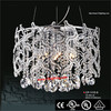 Large luxury contemporary crystal chandeliers tin metal crafts metal vases