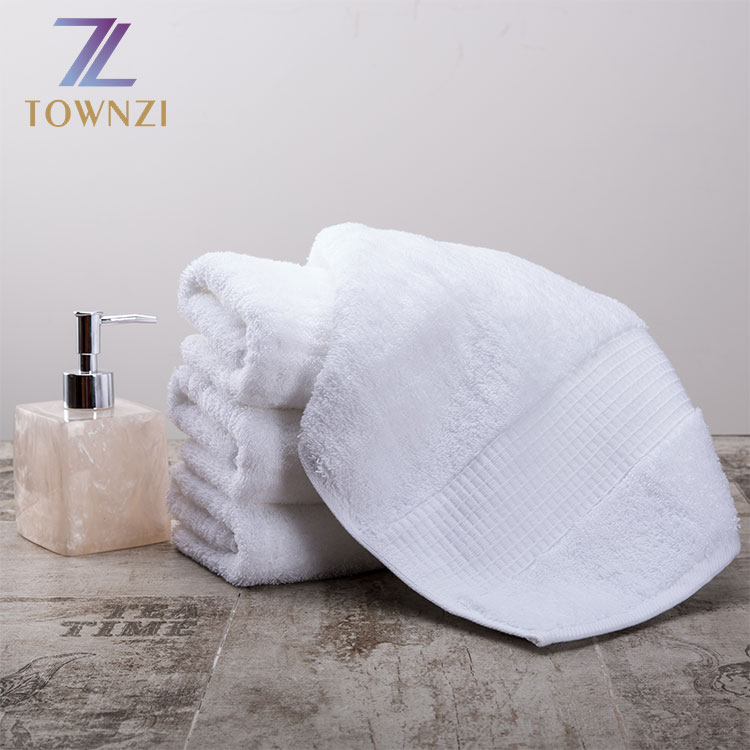 Townzi High Quality Plain Dyed Wholesale 100 Cotton Salon Hotel Bath White Towels