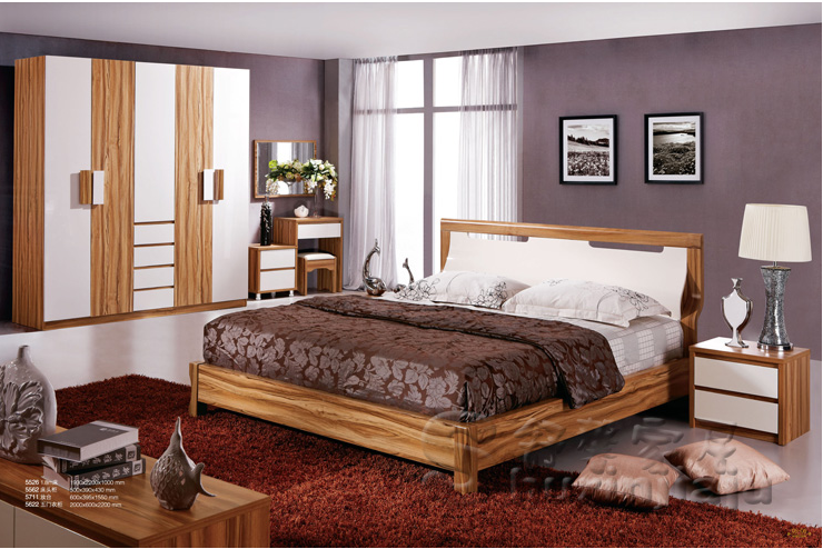 Apartment cheap wood carving melamine mdf modern bedroom Where can i buy a cheap bedroom set