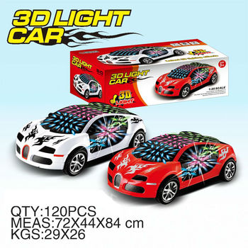 Plastic Battery Operate Car Bo Bump And Go Racing Car Toys With