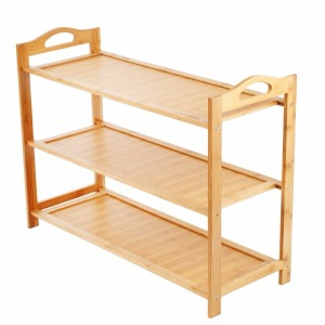 100% natural flat outdoor wholesale bamboo shoe rack