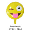 18inch round helium filled balloons foil mylar Emoji Balloon for party helium balloons