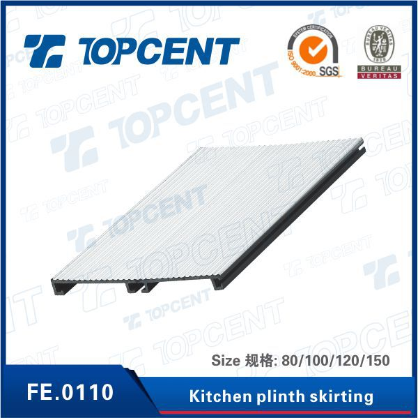 Kitchen cabinet accessories plastic PVC skirting board