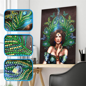 Peacock Beauty DIY Crystal Diamond 5d Special Shape DIY Adult Diamond Painting