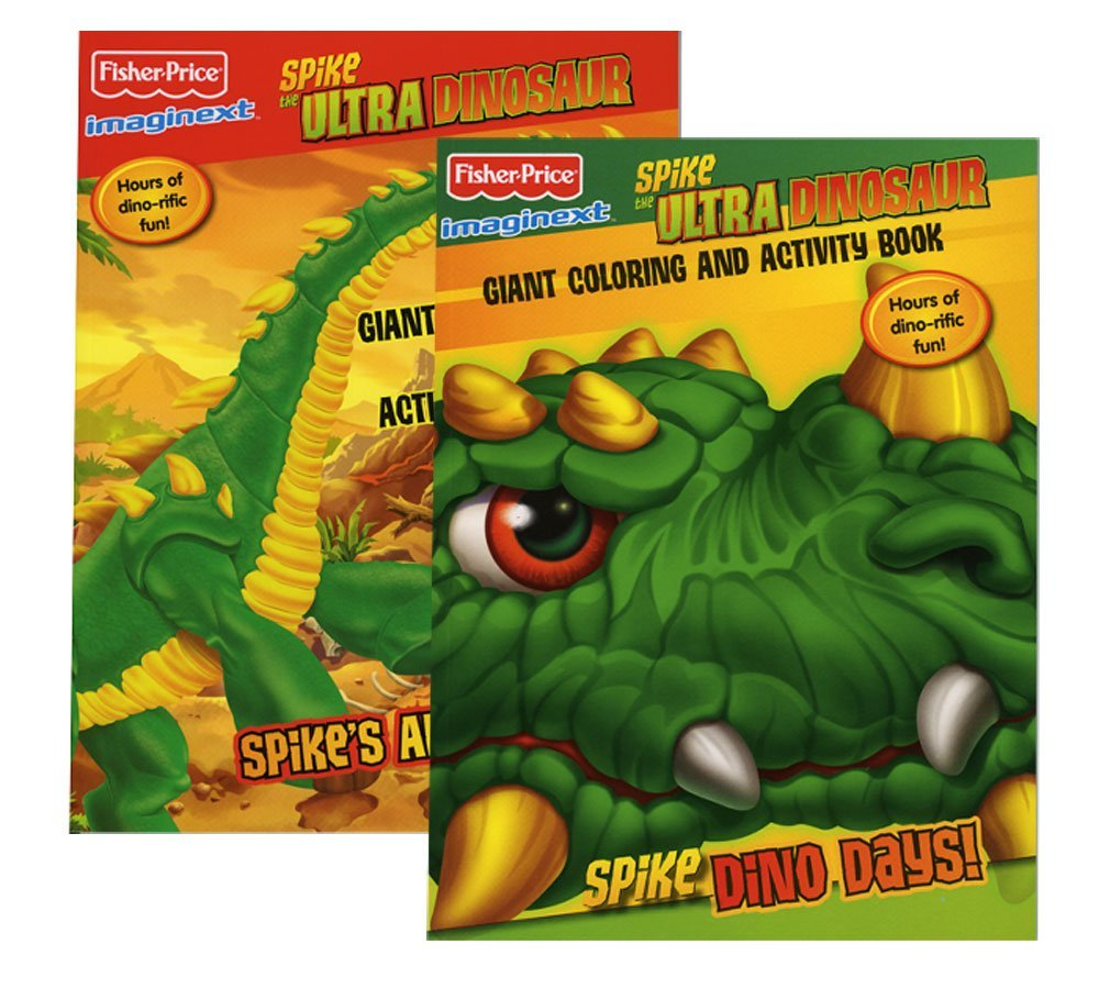 FISHER PRICE IMAGINEXT Spike The Ultra Dinosaur Giant Coloring & Activity Book, Case Pack 48
