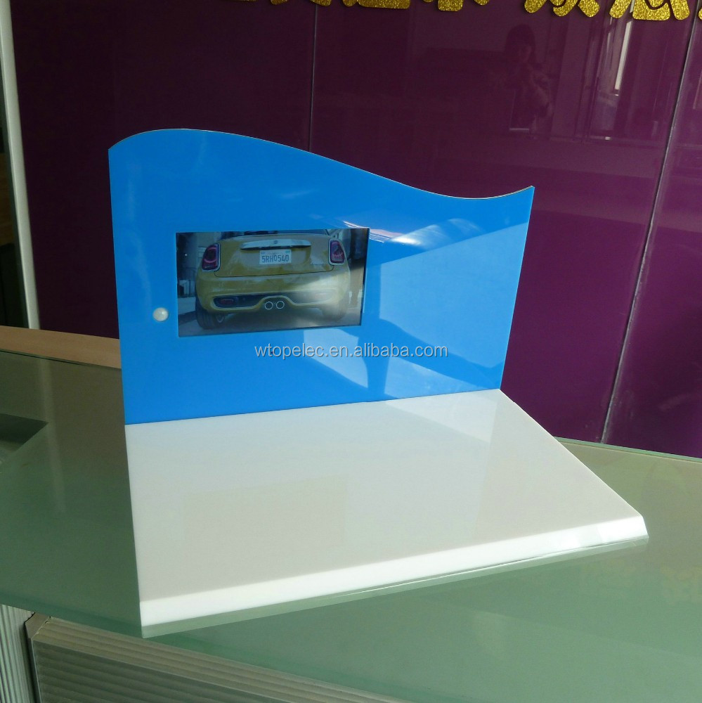 custom luxury acrylic display with LCD for marketing your products