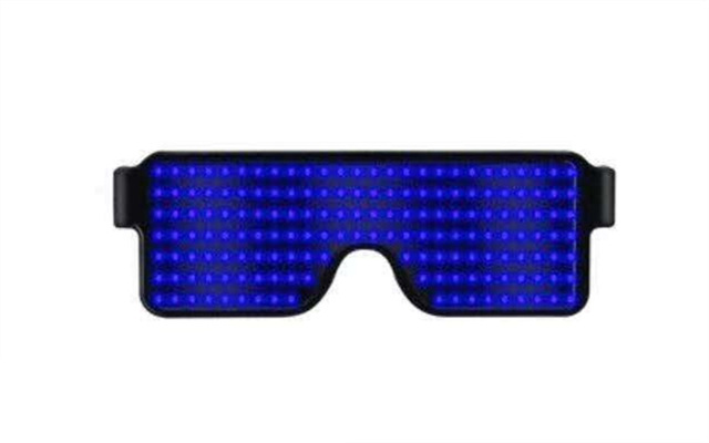 The Cheapest Price Wholesale El Wire Flashing Light Up Shutter Glasses Shades Eyewear Party Concert Favor Jade White Men's Eyewear Frames