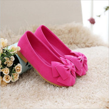 Spring Autumn Children Shoes Kids Girls Bow Princess Leather Flat Shoes Casual Sneakers Criancas Sapatos S2702