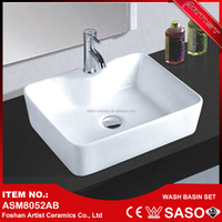 China Manufacturer Ceramic Porcelain One Piece Bathroom Sink And Countertop