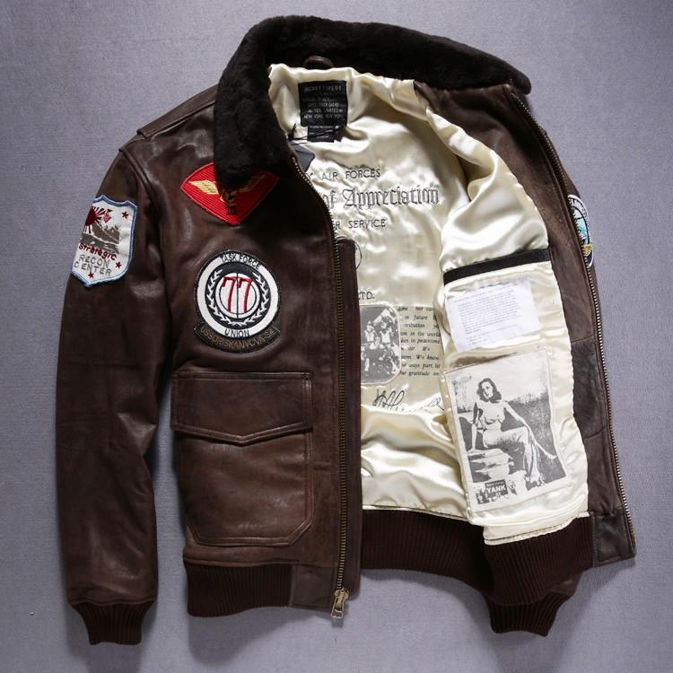 6cc0e64e86a ... leather flight jackets (6181010). Fall Hot Sale Avirex Air Force Flight  Jacket Sheepskin Men S Wool .