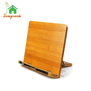 Bamboo Cook Wooden Laptop Book Stand For Tablet Holder