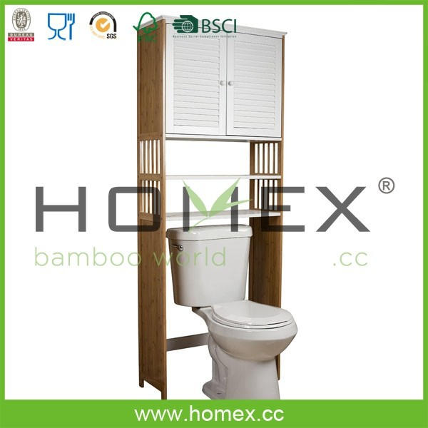 Bamboo Toilet Cabinet/Bathroom Space Saver Cabinet/Homex_FSC/BSCI Factory