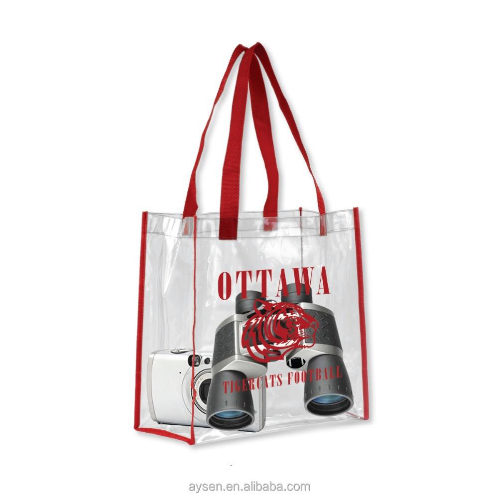Vinyl Tote Bag Pvc Handle Bag Shopping Bag Customized Pvc