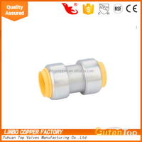 LB-GutenTop 1/2 inch Forged lead free brass push fit connector for Beijing Olympic Games bird's nest