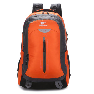Men's Shoulder Orange Waterproof Computer Casual Big Conference Backpack
