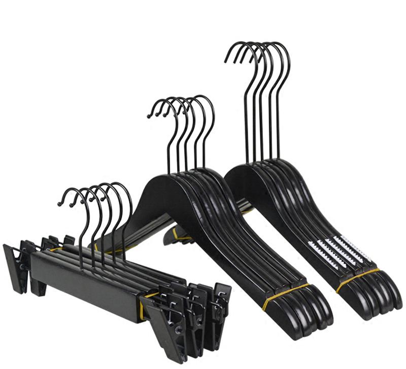 Wholesale Bulk Wood Plaque Hangers For Clothes Cheap Hanger With Black Long Hook Buy Wood Plaque Hangerslong Hook Clothes Hangerbulk Wood Hangers
