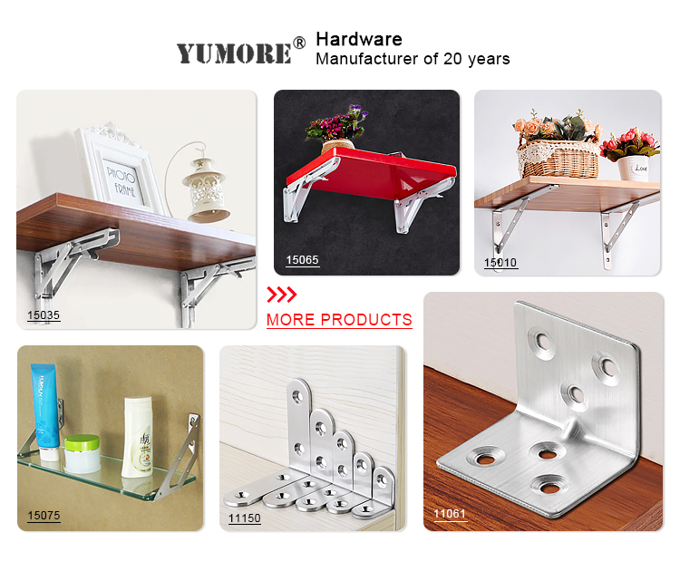 Custom Stamping Angle Bracket With Punching Holes ,colour Stainless Metal Corner Slotted Brackets For Wood Glass Shelf