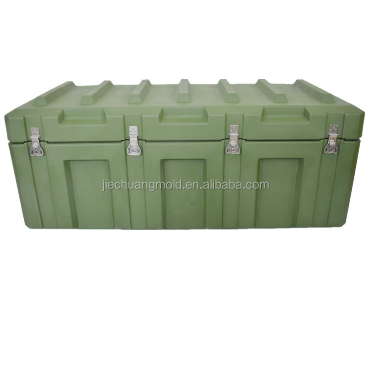 Armee fall wasserdichte kunststoff rotationsform military transport box military fall