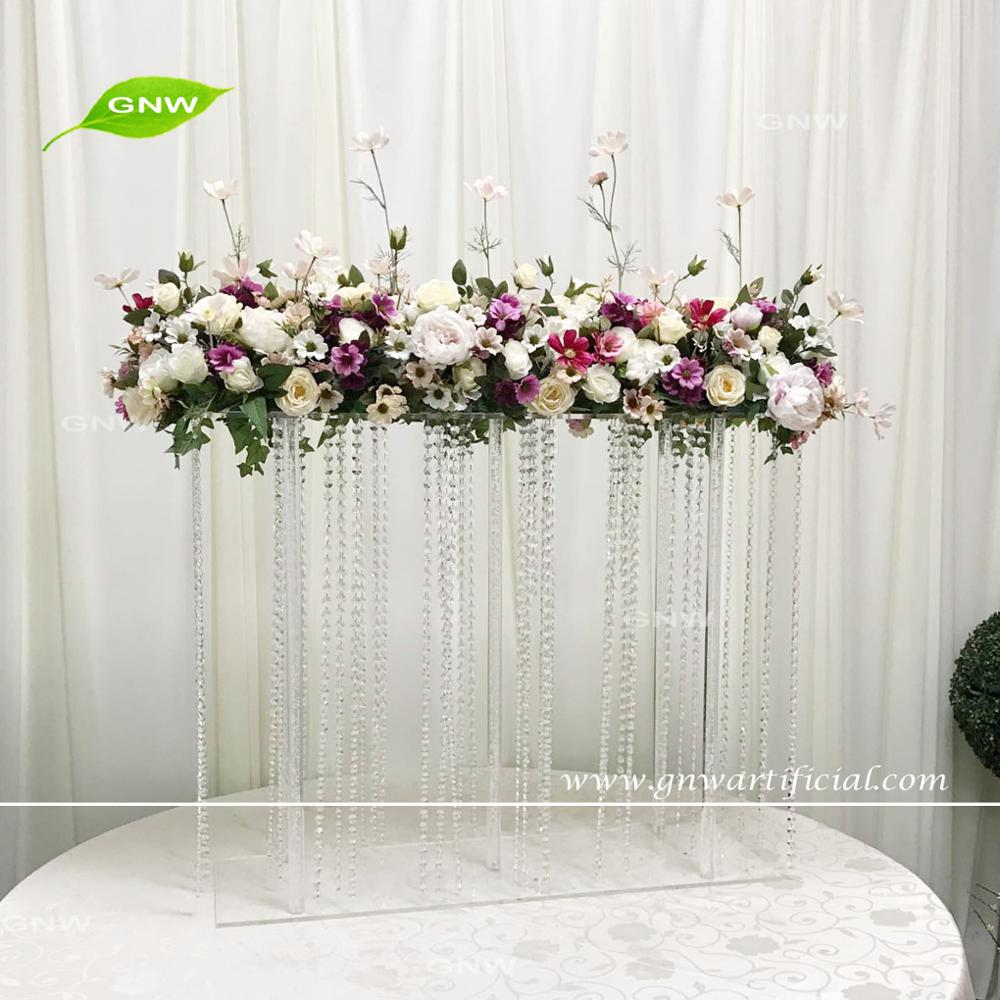 Gnw Ctra-1705025 Crystal Chain Tall Wedding Flower Centerpieces With ...
