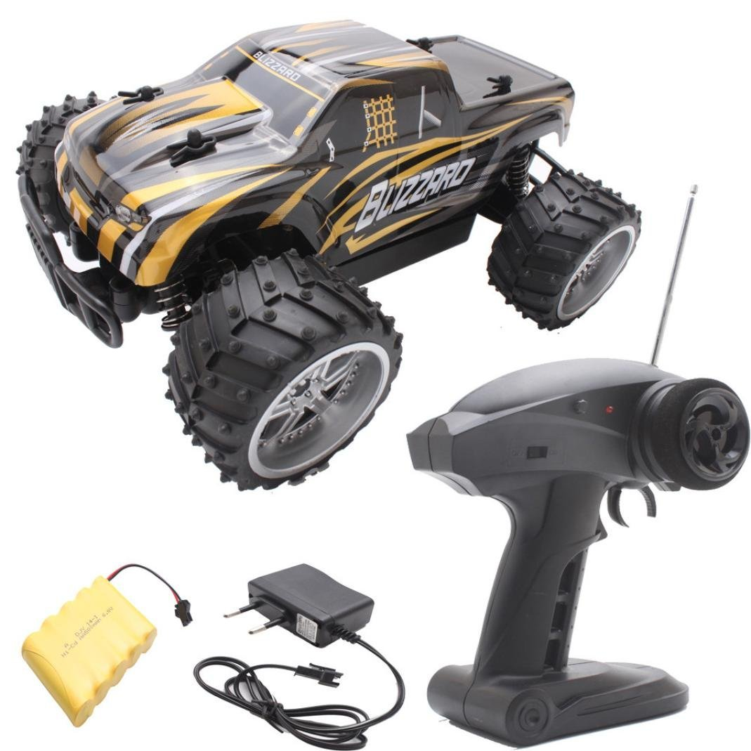 Hot sale! RC Toy, Remote Control Car,Sunfei 1:16 Electric RC Car Off Road High Speed Remote Control Car Model (Yellow)