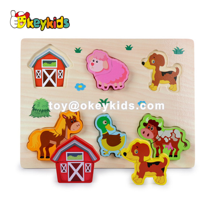 New hottest cartoon pattern kids wooden jigsaw toys for education W14D049