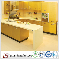 Yellow Modern Kitchen Cabinets Design