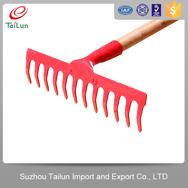 long handle garden leaf rake for farm