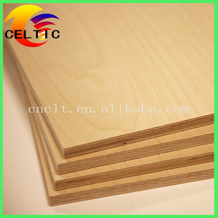 Linyi Birch Laminated Plywood Poplar Core Board for Indoor Cabinets Parts with CARB Certificate
