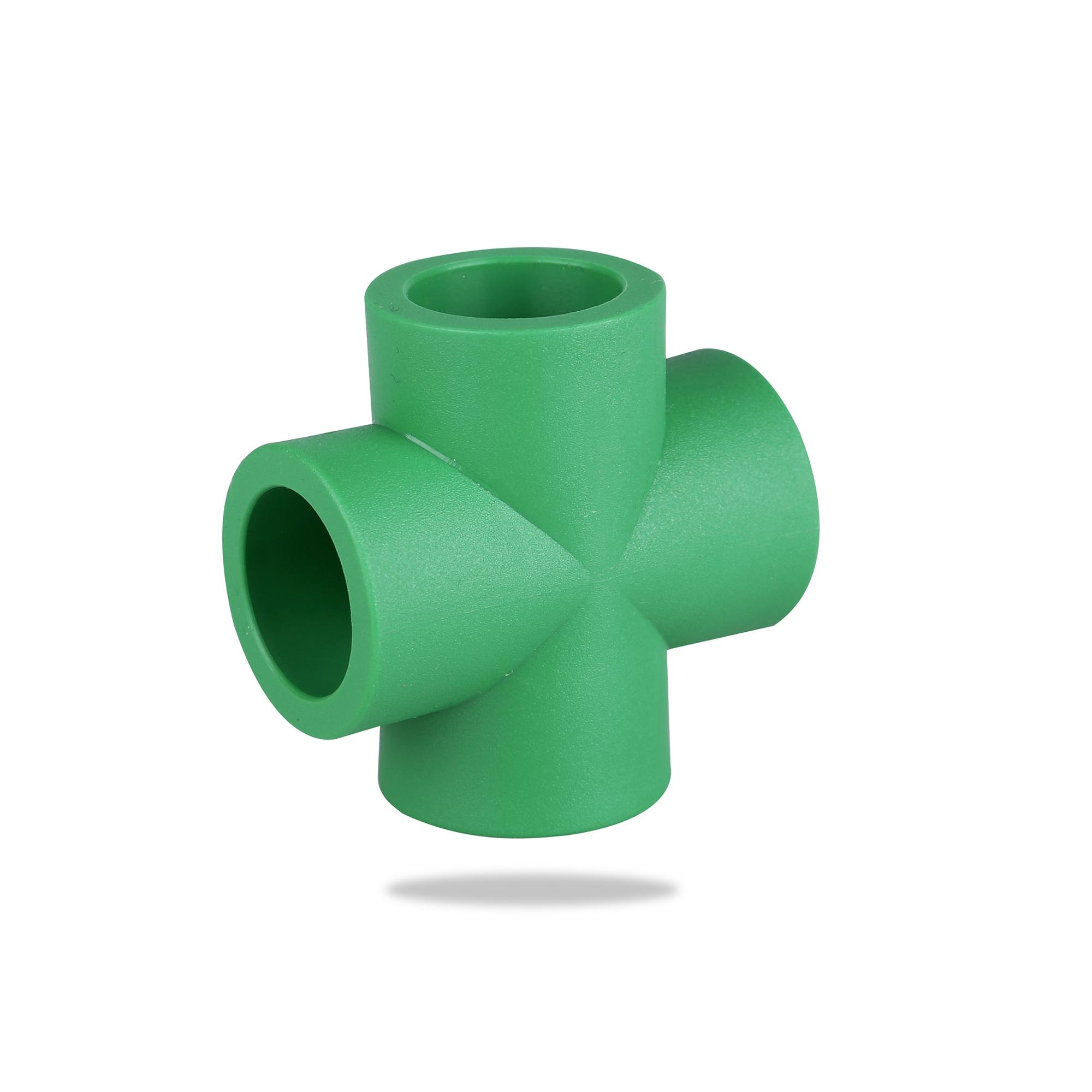 Factory Price Plastic Connectors PPR Pipe <strong>Fitting</strong> 4 Way PPR Cross <strong>fitting</strong>