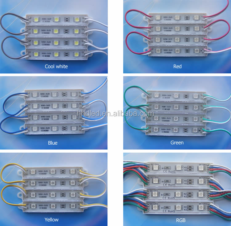 promotion!!! high quality 12v 3 chips smd 5054 cool white waterproof led module