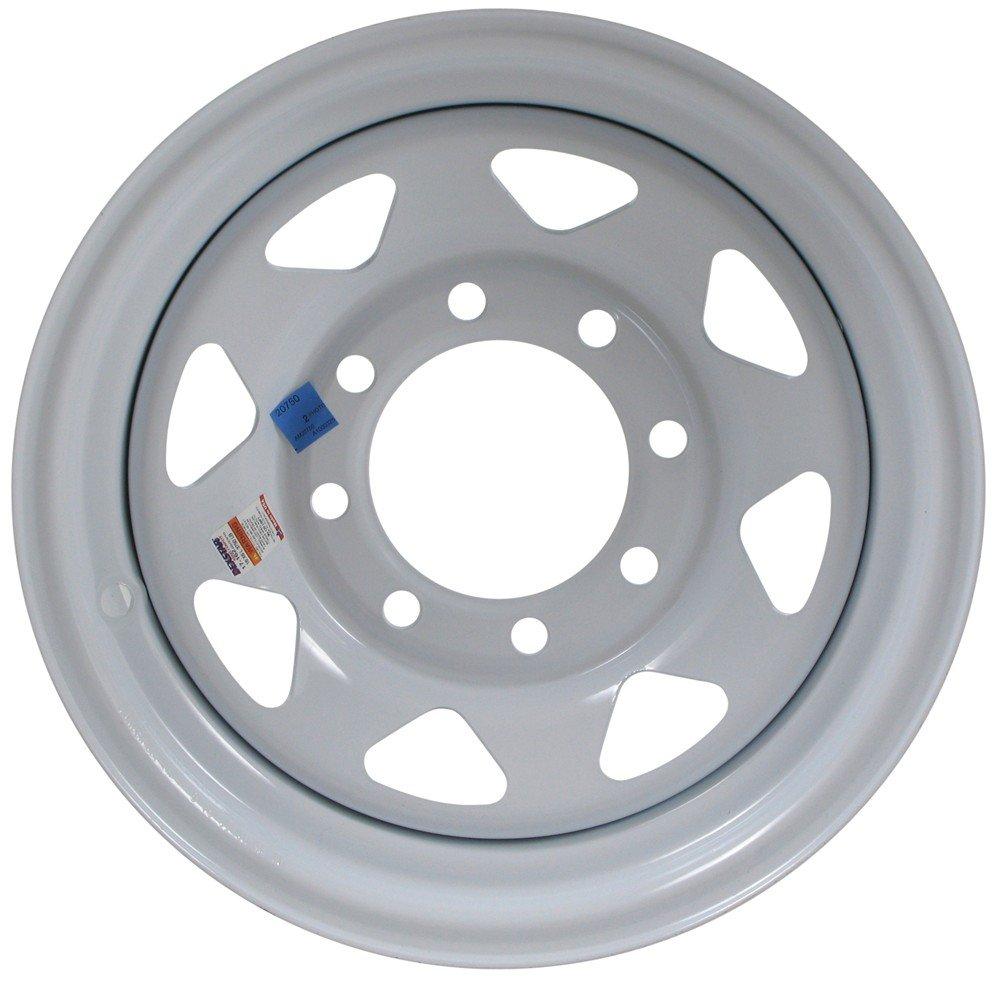 "eCustomRim Equipment Trailer Rim Wheel 16"" 16X6 8 Hole Bolt Lug White Spoke (Rim Only)"